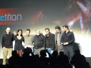 Equipe du film La Horde avec les deux réalisateurs : Yannick Dahan & Benjamin Rocher