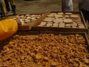 Fromages séchant au soleil, Mongolie